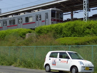 TII号と電車