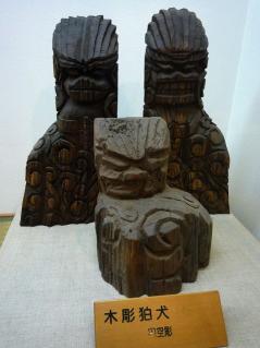 木彫狛犬(円空作)
