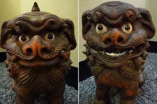信楽焼狛犬(狸庵作)
