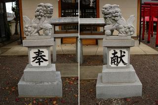 子守神社の狛犬