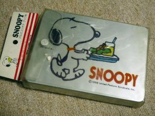 スヌーピーのアルミの弁当箱