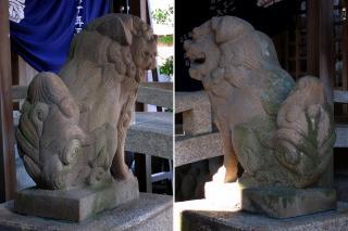 八劔社・熊野社の狛犬