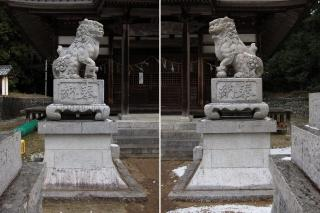 素盛鳴神社の狛犬