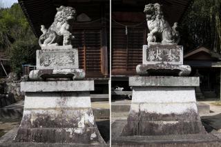 白髪神社の狛犬