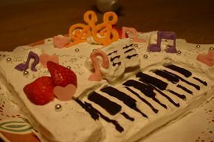 ①piano cake1