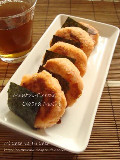 Mentai-cheese Okara Mochi