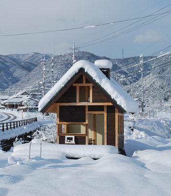 小屋と雪 元日