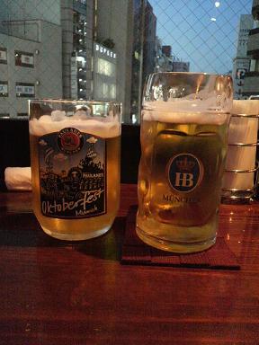 理絵とビール
