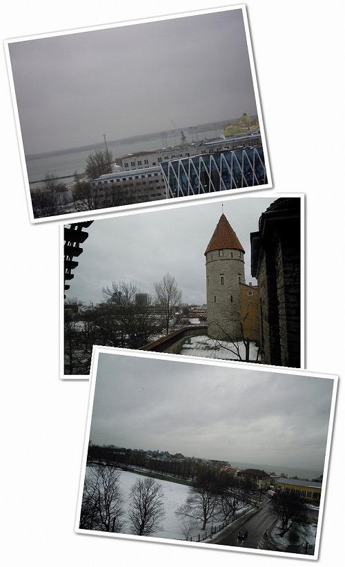 城壁の上からの景色