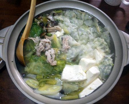 水餃子レタス鍋ばい