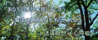 ■ブロブ広告◆あなたの夢を実現してしまう・誘導瞑想「心呼吸」.