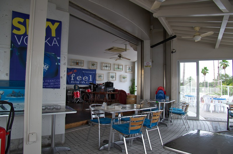 六甲アイランド南岸のお洒落なダイニングカフェfeel