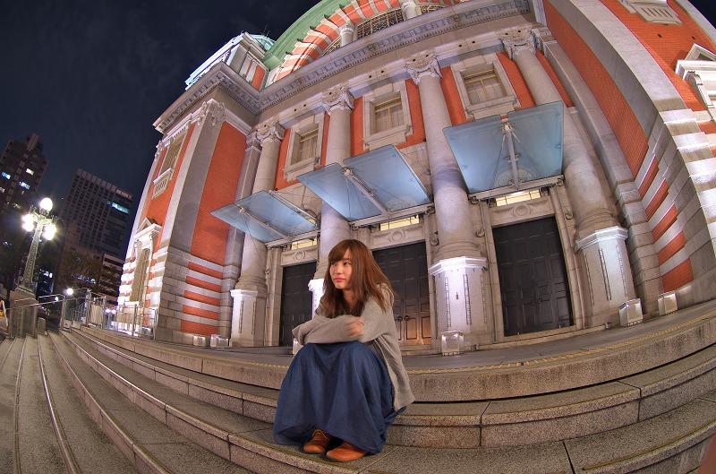 中之島 中央公会堂 夜景 ポートレート