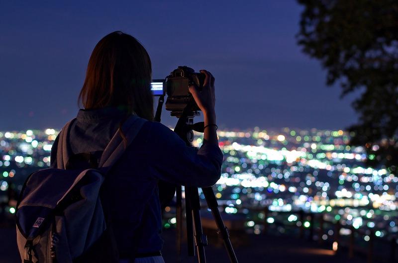 若草山 マジックアワー 夜景
