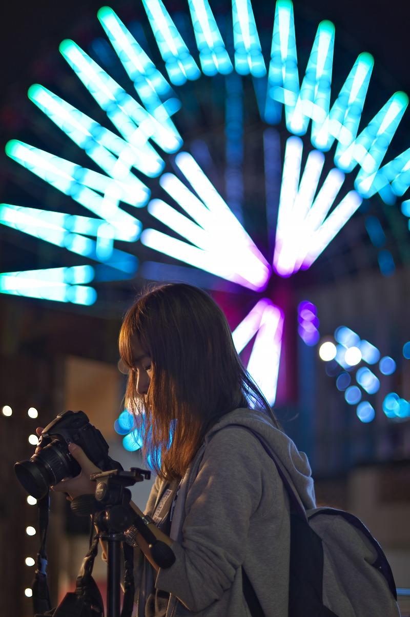 神戸モザイクガーデン ハーバーランド umie 夜景 ポートレート