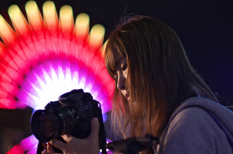 神戸モザイクガーデン 夜景撮影 ポートレート