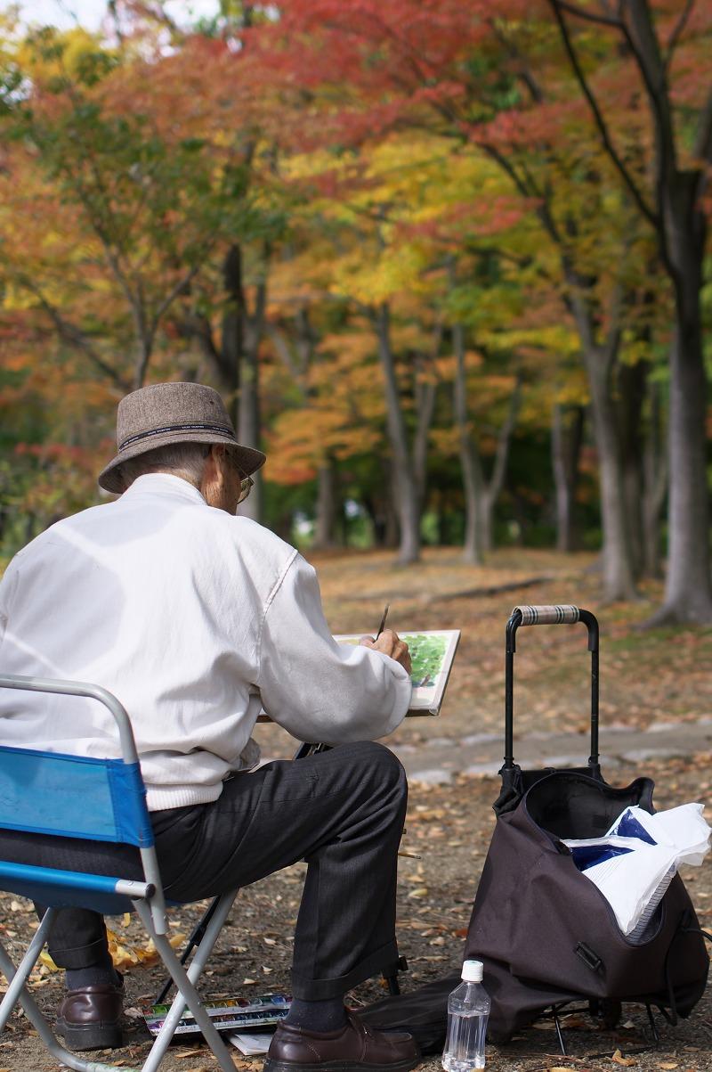長居植物園 秋 絵画
