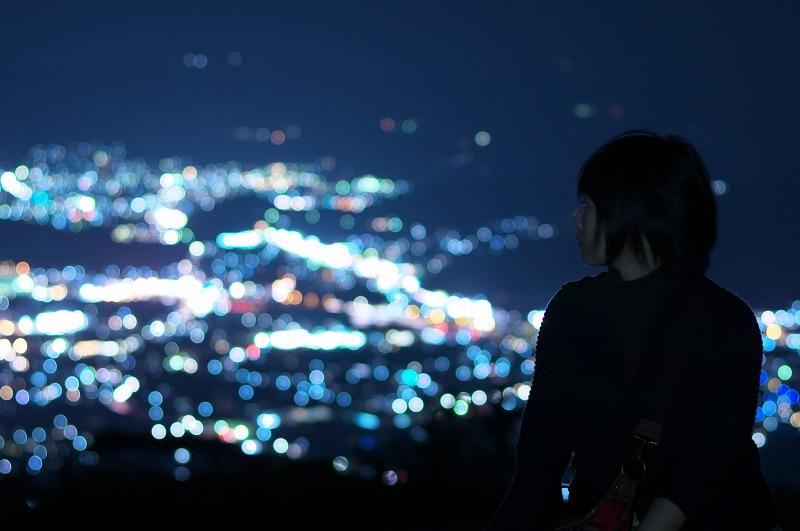 鷲ヶ峰コスモスパーク 夜景 ポートレート