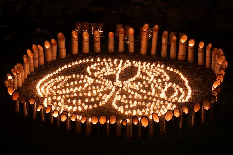 竹燈夜2014 in 和歌山城