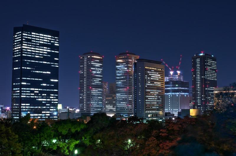 大阪城ブルーライトアップ