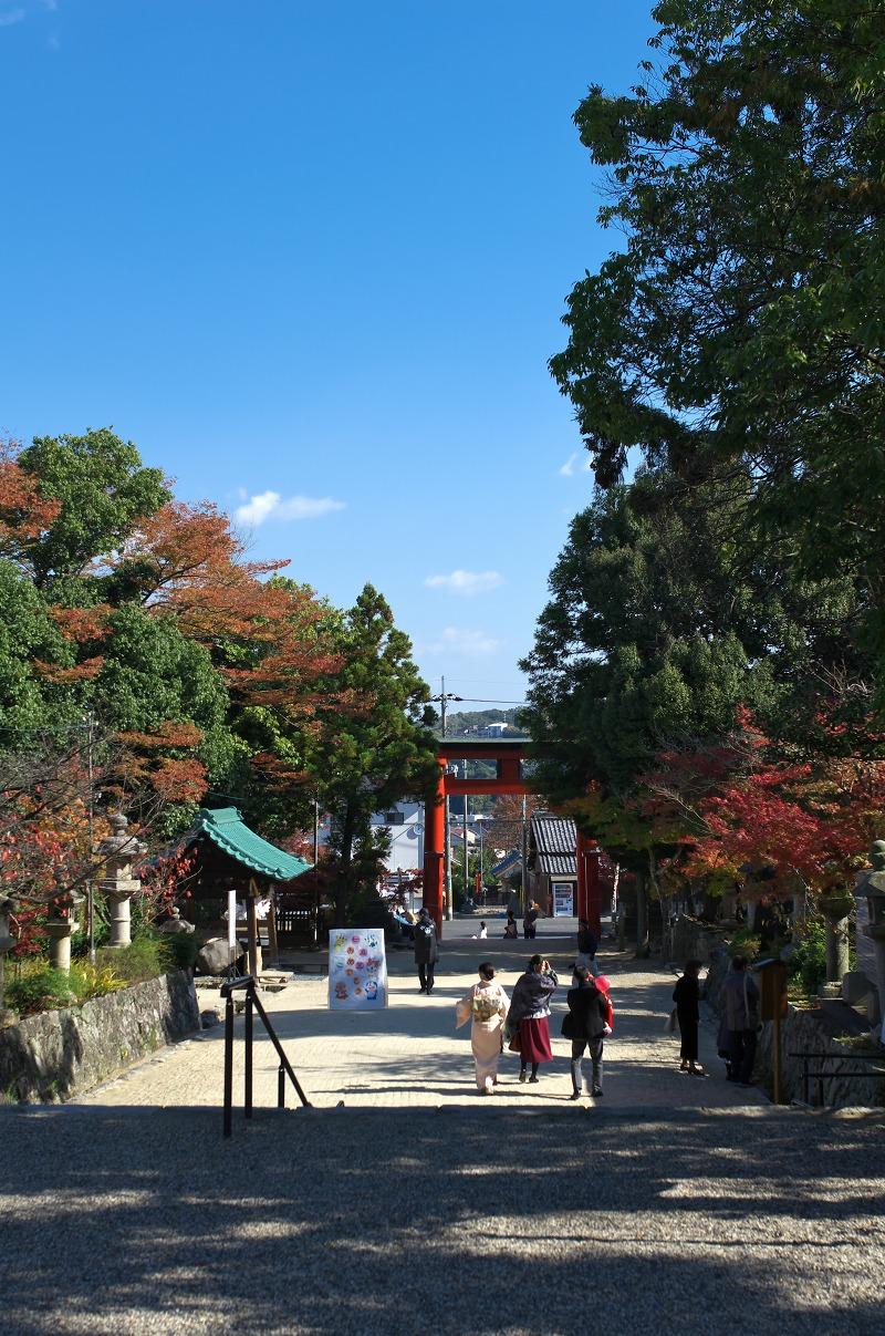 奈良 龍田神社 紅葉