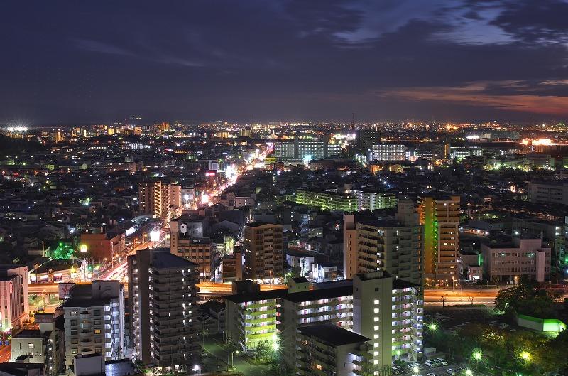 堺市役所展望ロビーからの夜景