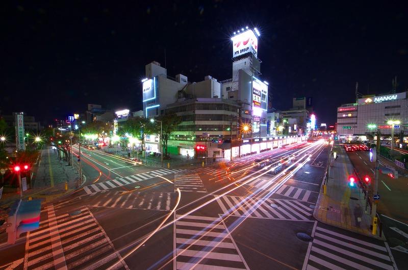 堺東駅 歩道橋 夜景