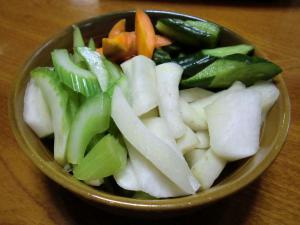 ぬか漬けした野菜