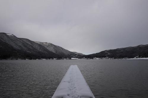 木崎湖と桟橋