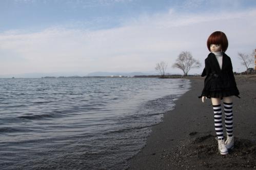 湖岸にて5
