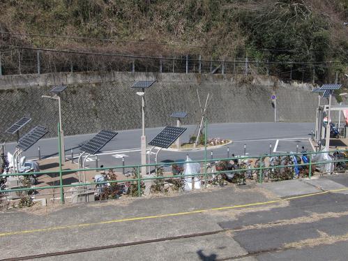 古虎渓駅前ロータリー