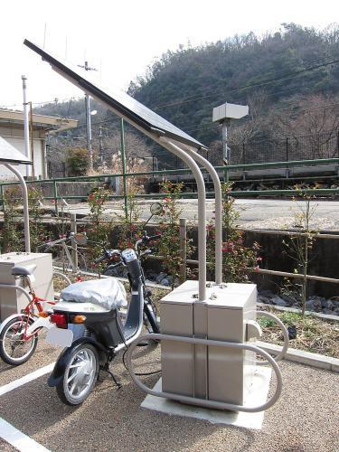 電動バイク・ソーラー充電システム1