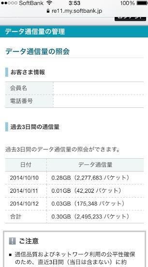 20141013通信料の確認1