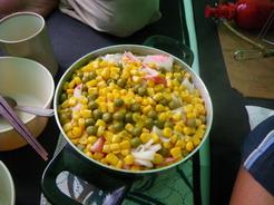 19この日の夕飯 カニカマの炊き込みご飯_サイズ変更