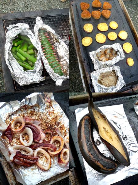 オーブンシートで包んでオーブンで焼いているズッキーニベーコン。 アルミホイルに包んでBBQでもおいしかったです(^^♪
