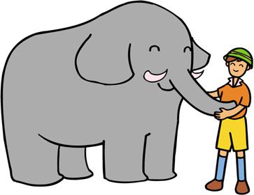 象と飼育係