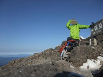雪の韓国岳 027