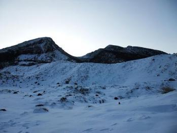 雪の韓国岳 013