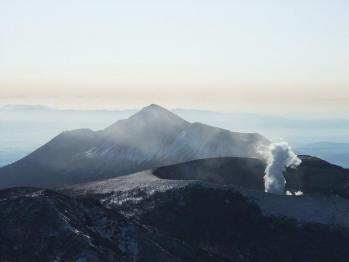 雪の韓国岳 039