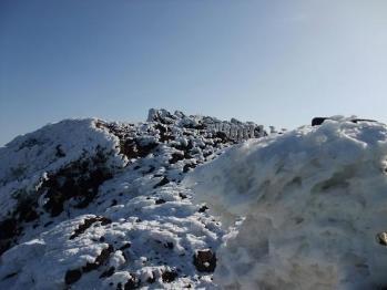 雪の韓国岳 060