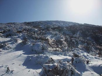 雪の韓国岳 072