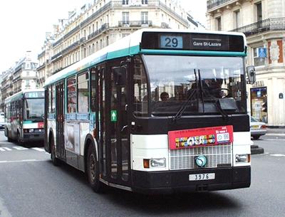 29系統 パリのバス