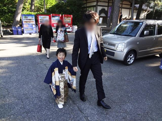 袴に着替えた陸ちゃん