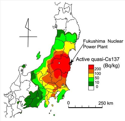 鮎の汚染地図