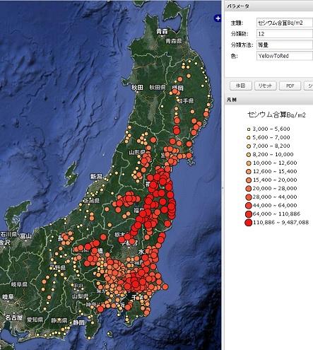 東日本農地土壌緯度経度マップ1