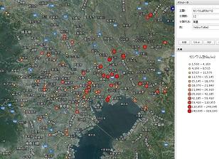 東日本農地土壌緯度経度マップ3