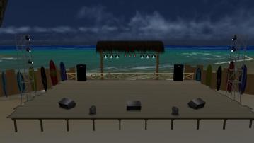 夜の海辺ステージ04