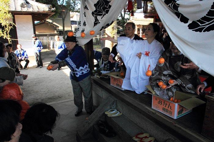 植槻八幡神社 おんだ祭5