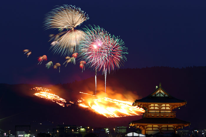 若草山焼き2014