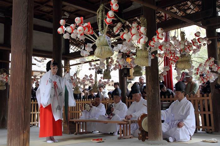 相楽神社 餅花祭2